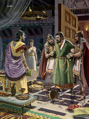 Esther 7: Esther: King Ahasuerus: and Haman