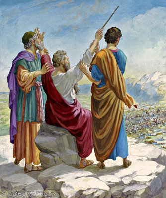 Résultat d'images pour Moïse Hur Aaron