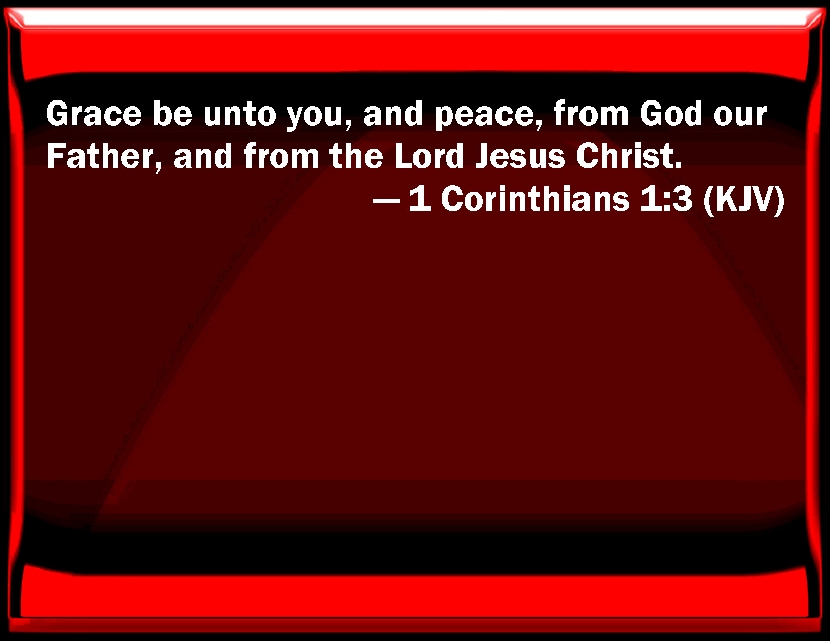 Image result for 1 Corinthians 1:3