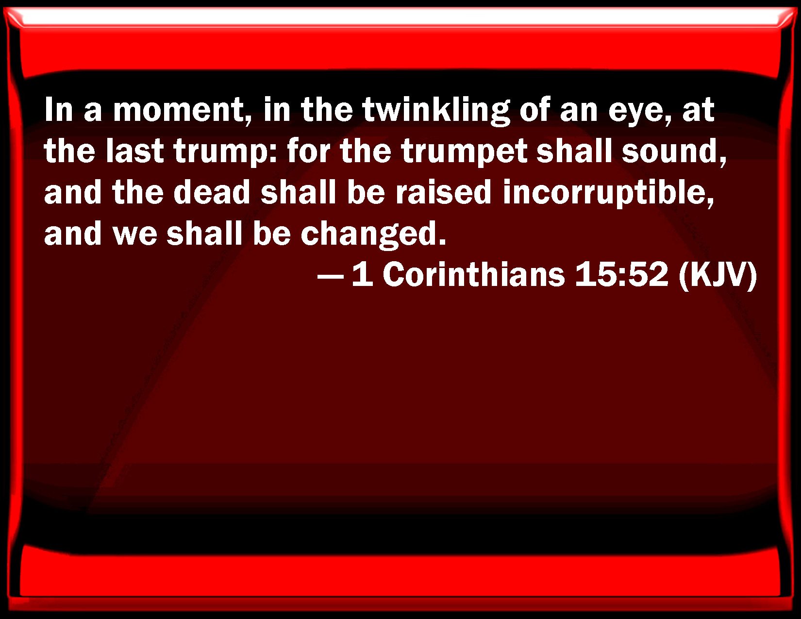 1 Corinthians 15 52