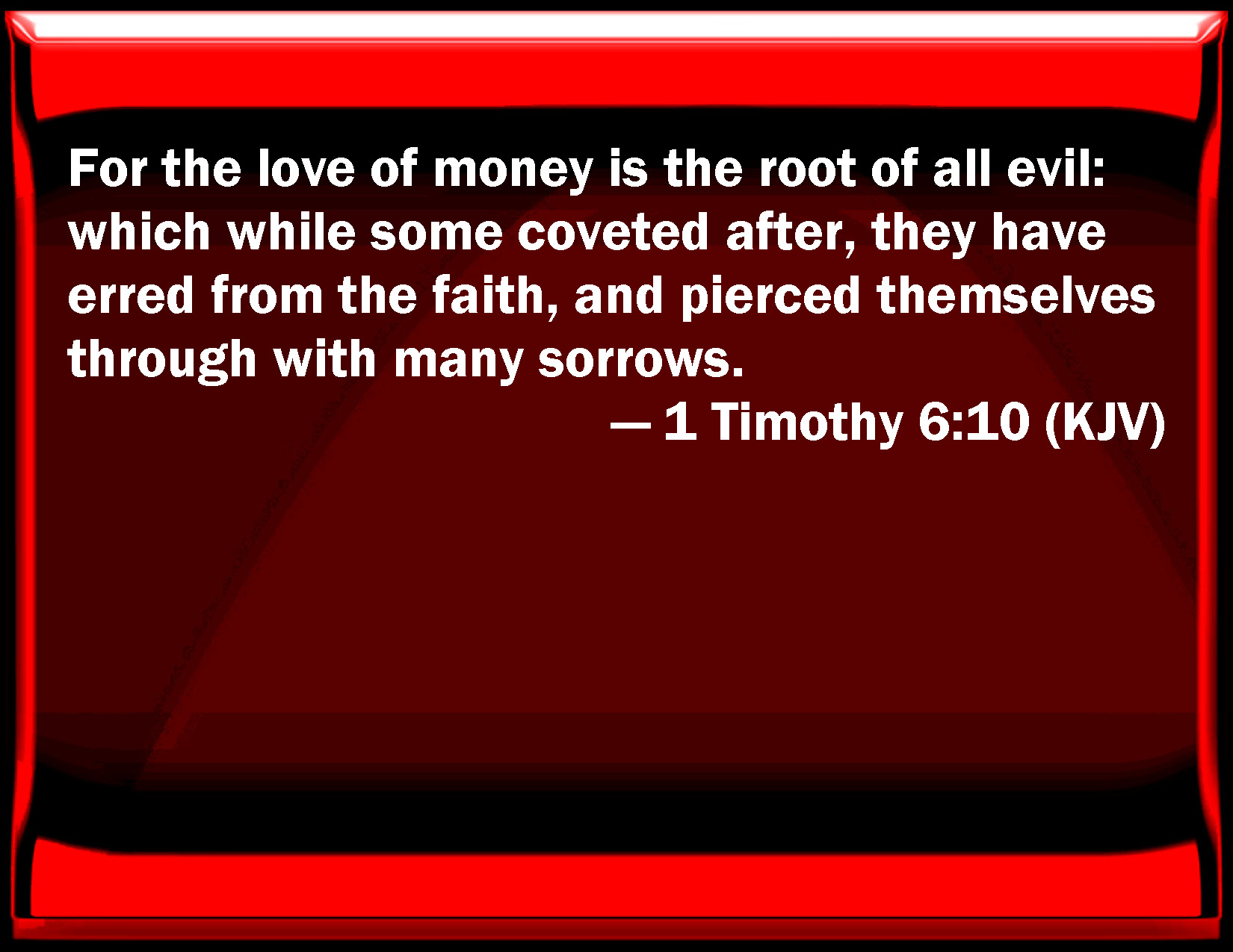 the love of money is the root of all evil essay