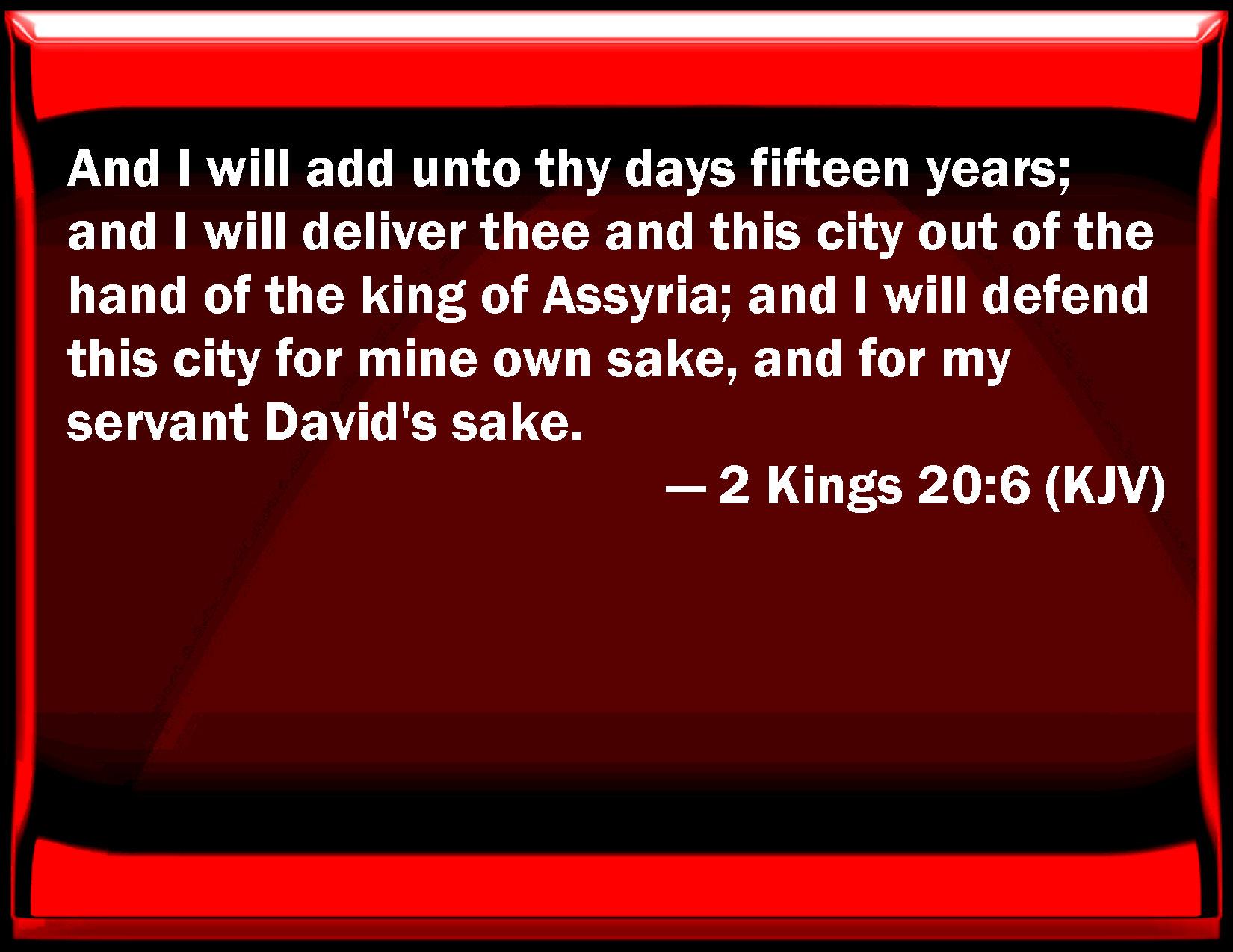 2 Kings 20:6