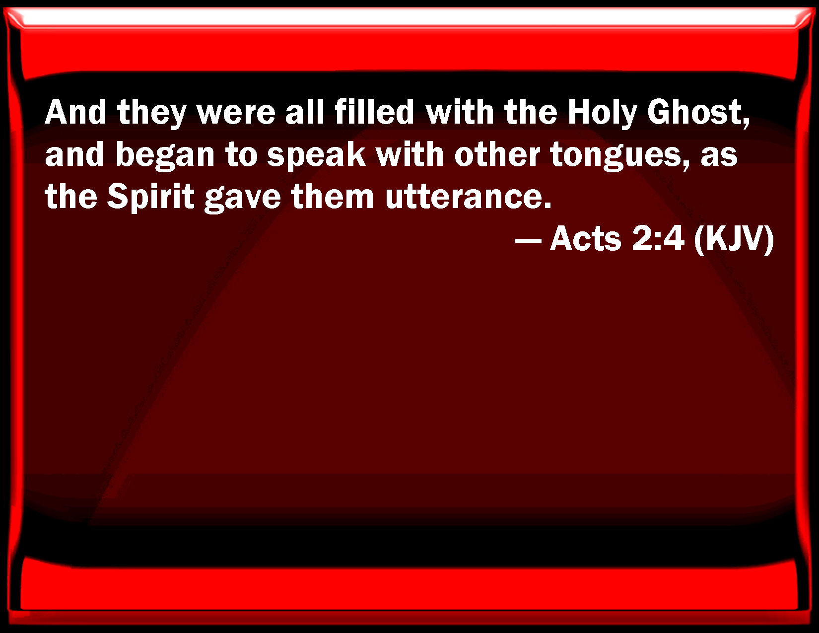 acts 2 4 and they were all filled with the holy ghost and began to