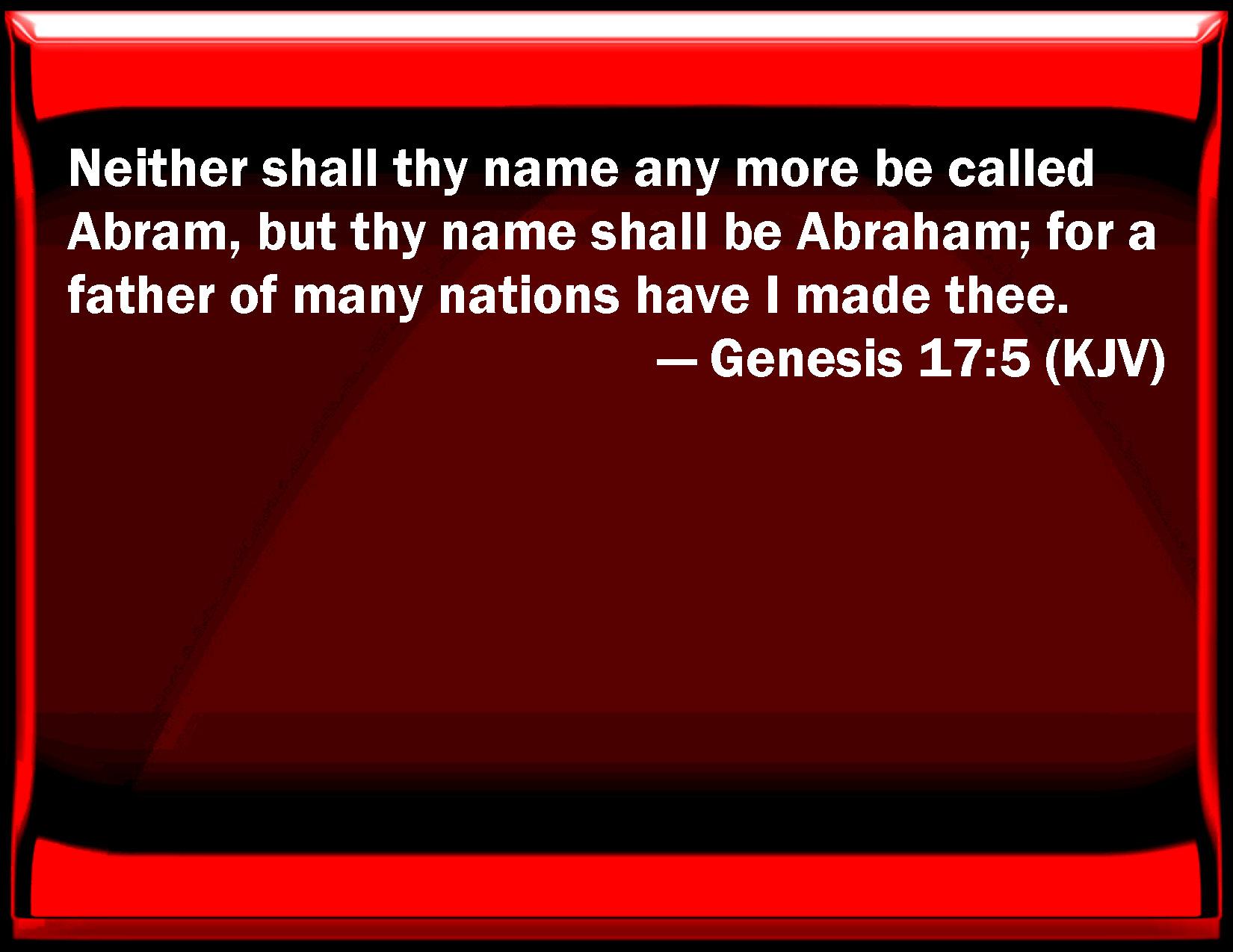 Genesis 17 5