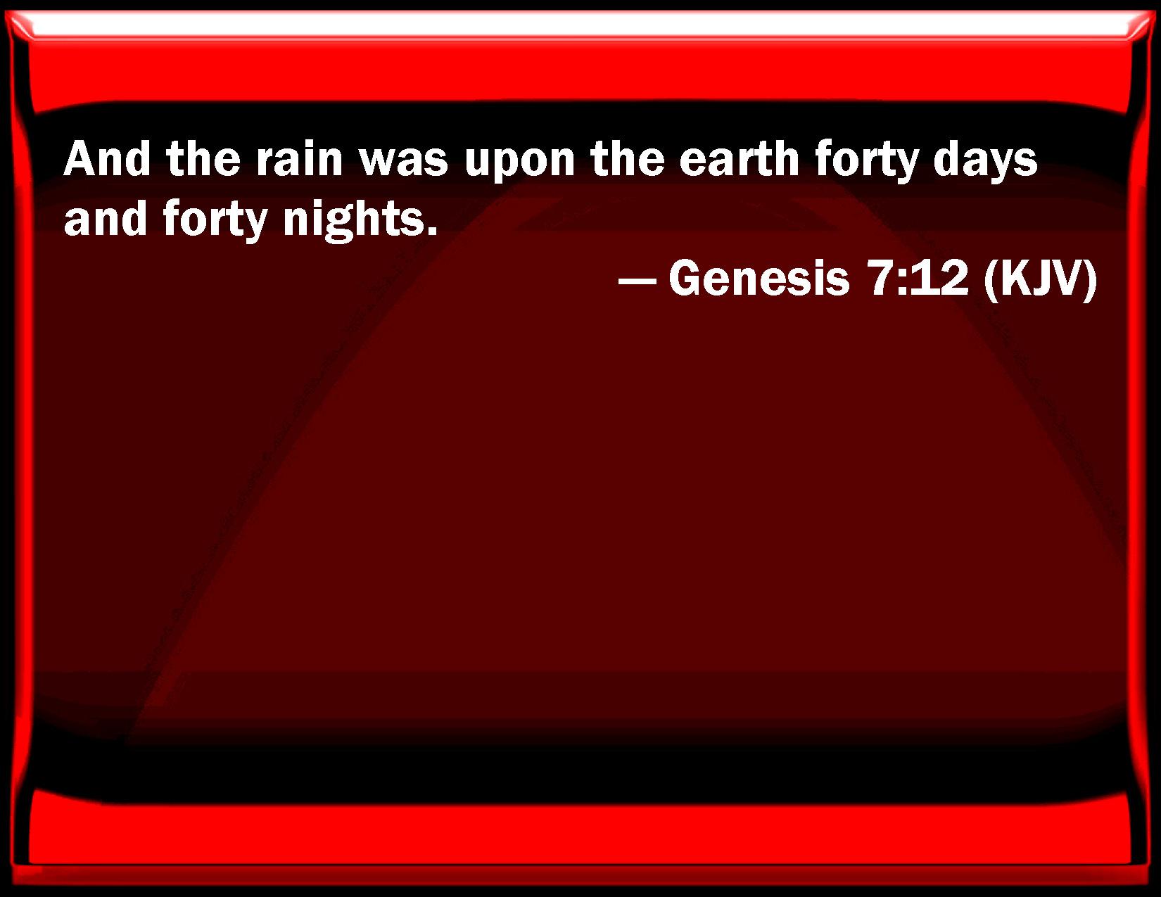 Genesis 7 12