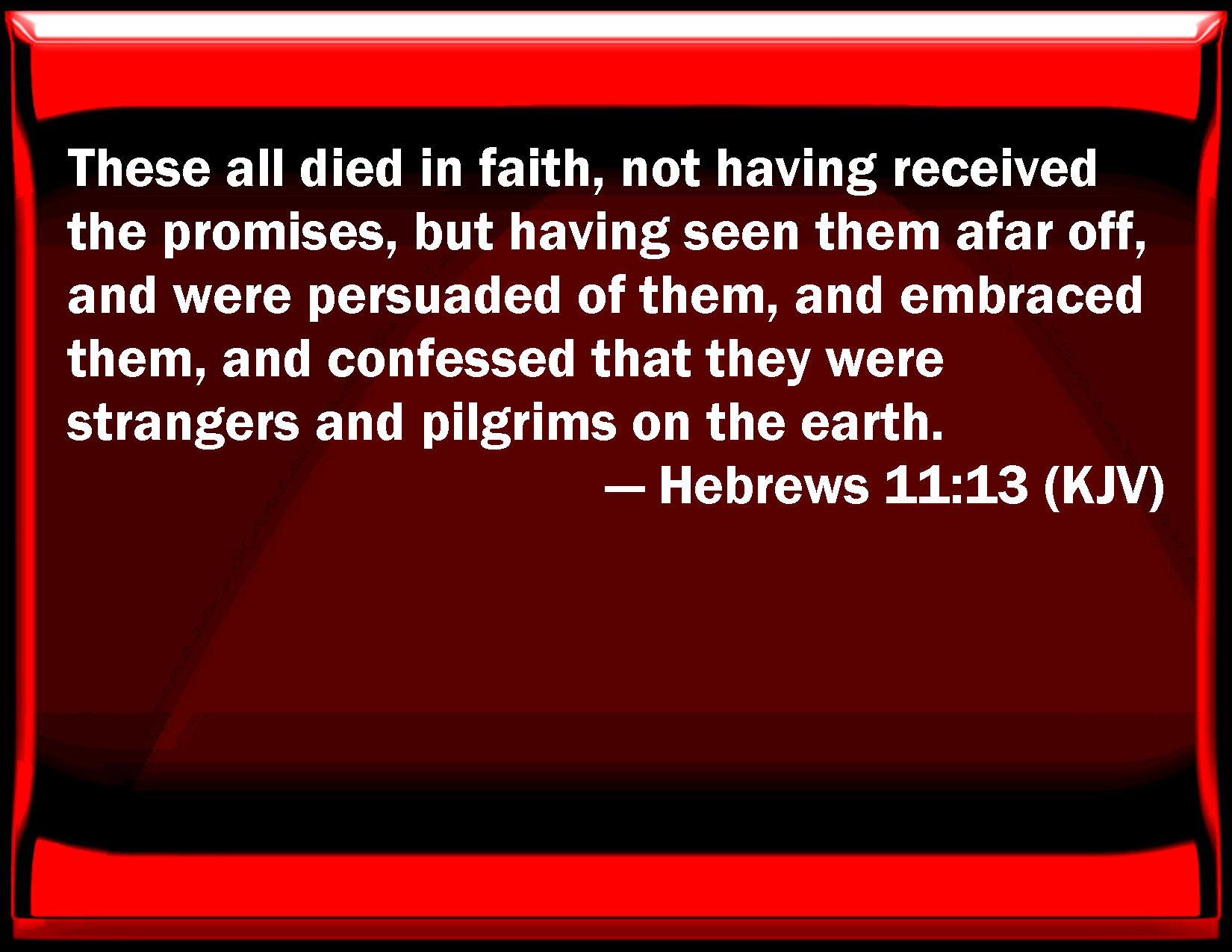 Hebrews 11 13