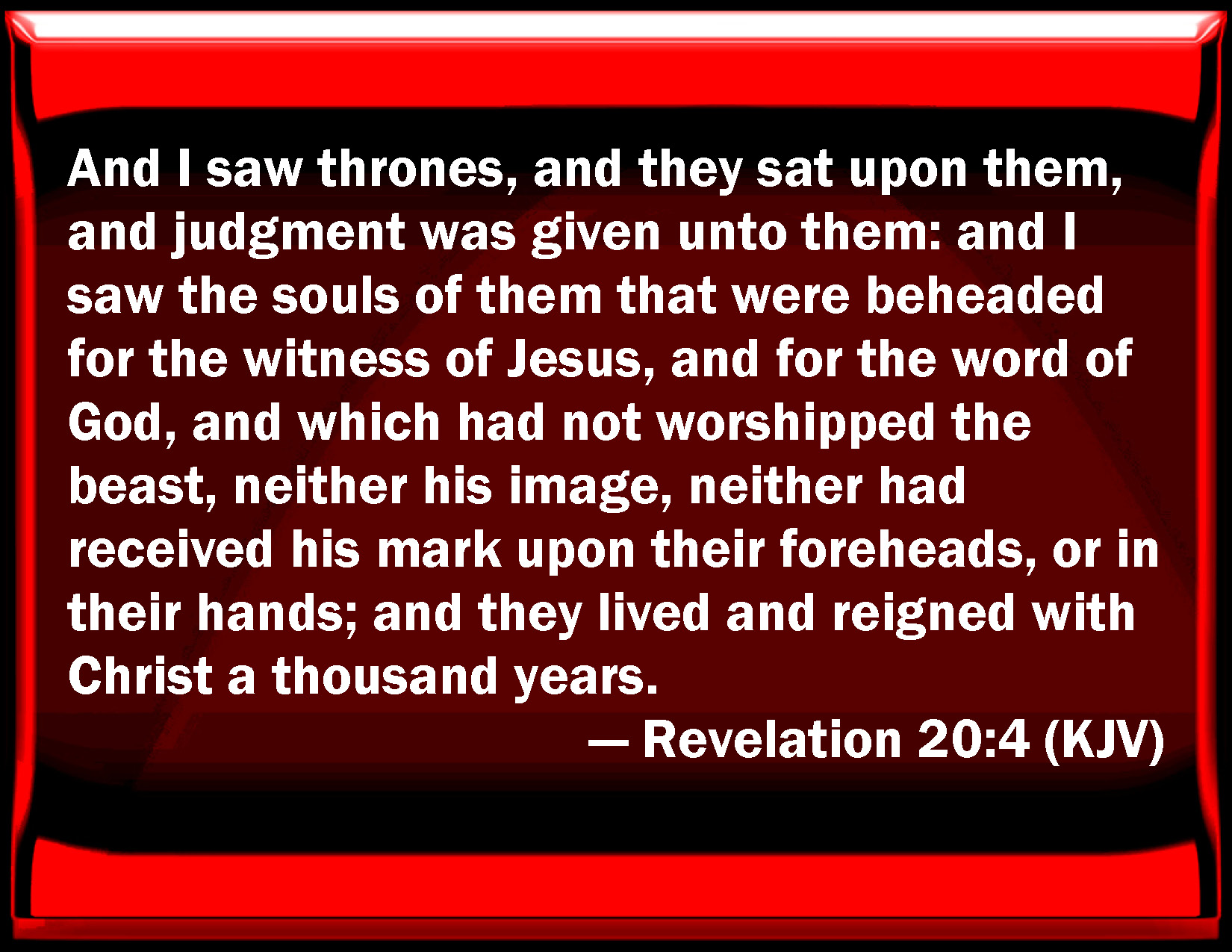 """revelation 20 Unfortunately, the discussion of this passage has been muddled by statements such as: """"the premillennial interpretation of revelation 20 is superior because it is literal, whereas the amillennial interpretation spiritualizes, and therefore dishonors, god's word"""" suffice it to say, in the words of arthur lewis, that the essential."""