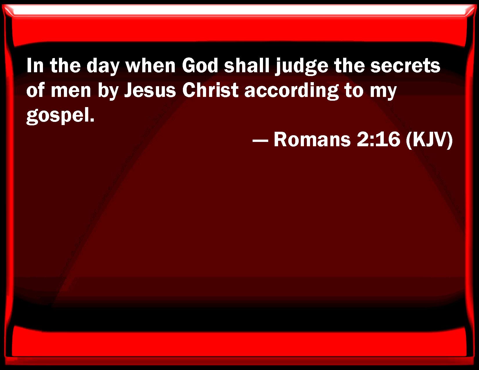 Romans 2 16