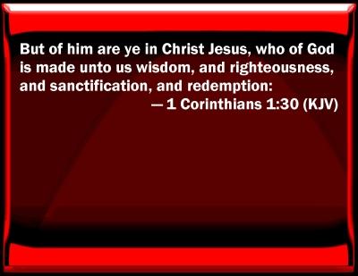 Bible Verse Powerpoint Slides For 1 Corinthians 1 30