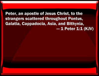 Bible Verse Powerpoint Slides For 1 Peter 1 1