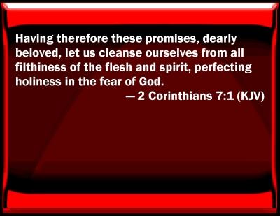 Bible Verse Powerpoint Slides For 2 Corinthians 7 1