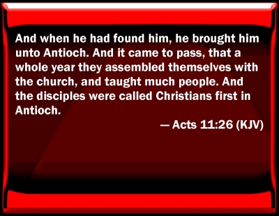 Bible Verse Powerpoint Slides For Acts 11 26
