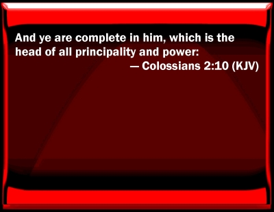 Bible Verse Powerpoint Slides For Colossians 2 10