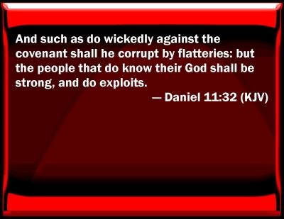 Bible Verse Powerpoint Slides For Daniel 11 32