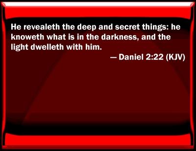 Bible Verse Powerpoint Slides For Daniel 2 22