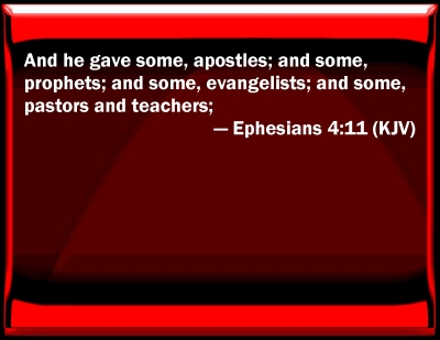 Bible Verse Powerpoint Slides For Ephesians 4 11