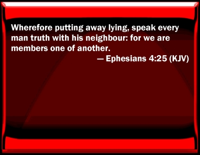 Bible Verse Powerpoint Slides For Ephesians 4 25