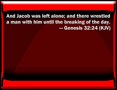 Bible Verse Powerpoint Slides For Genesis 32 24