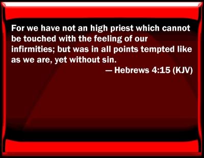 Bible Verse Powerpoint Slides For Hebrews 4 15
