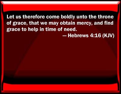 Words of Encouragement KJV_Hebrews_4-16