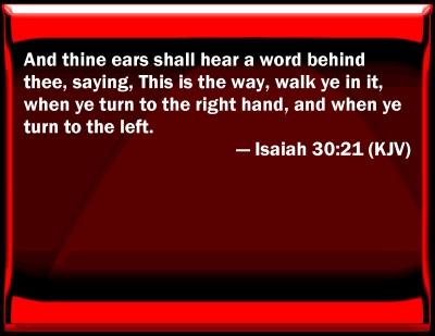 bible isaiah 30 21