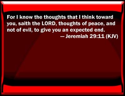 Bible verse powerpoint slides for jeremiah 29 11 - Jer 29 11 kjv ...