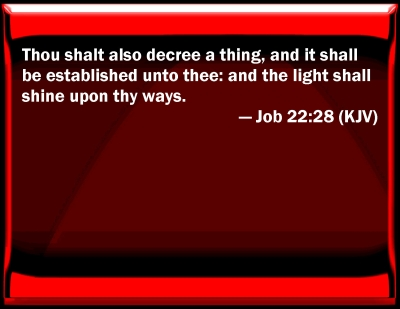 Bible Verse Powerpoint Slides For Job 22 28