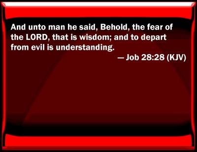 Bible Verse Powerpoint Slides For Job 28 28