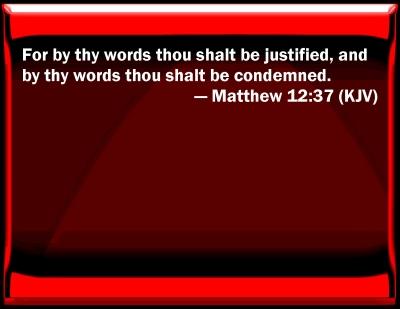 Bible Verse Powerpoint Slides For Matthew 12 37