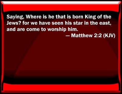 Matthew 2 kjv