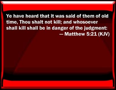 Bible Verse Powerpoint Slides For Matthew 5 21