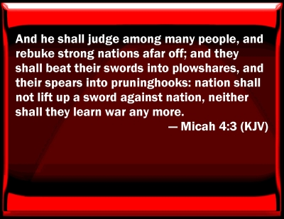 Bible Verse Powerpoint Slides For Micah 4 3