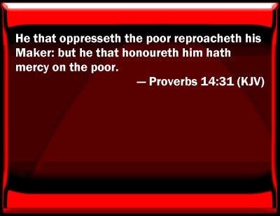 Bible Verse Powerpoint Slides For Proverbs 14 31