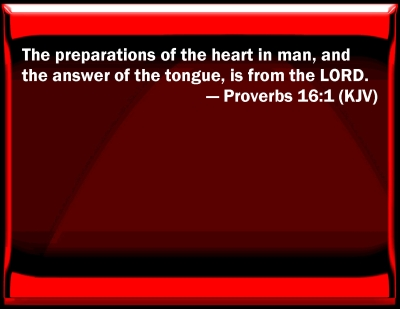 Bible Verse Powerpoint Slides For Proverbs 16 1