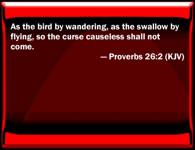 Bible Verse Powerpoint Slides For Proverbs 26 2