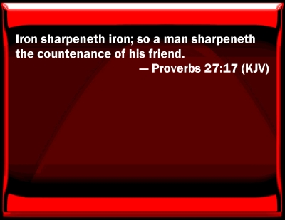 Bible Verse Powerpoint Slides For Proverbs 27 17