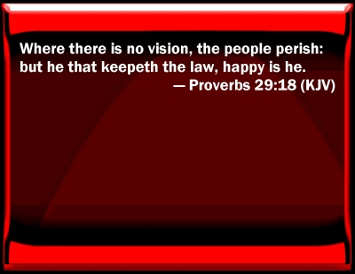 Bible Verse Powerpoint Slides For Proverbs 29 18