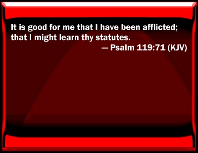 Bible Verse Powerpoint Slides For Psalm 119 71