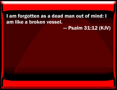 Bible Verse Powerpoint Slides For Psalm 31 12