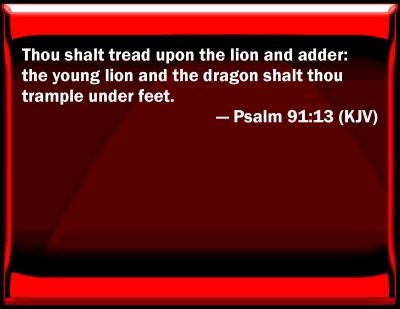Bible Verse Psalm 91 Psalm 91:13 Bible Verse Slides