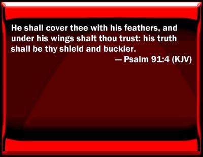 Bible Verse Psalm 91 Psalm 91:4 Bible Verse Slides