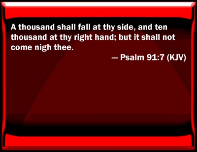 Bible Verse Powerpoint Slides For Psalm 91 7