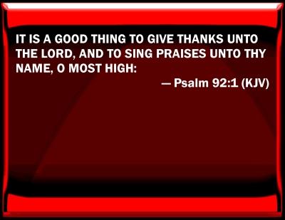 psalm kjv 92