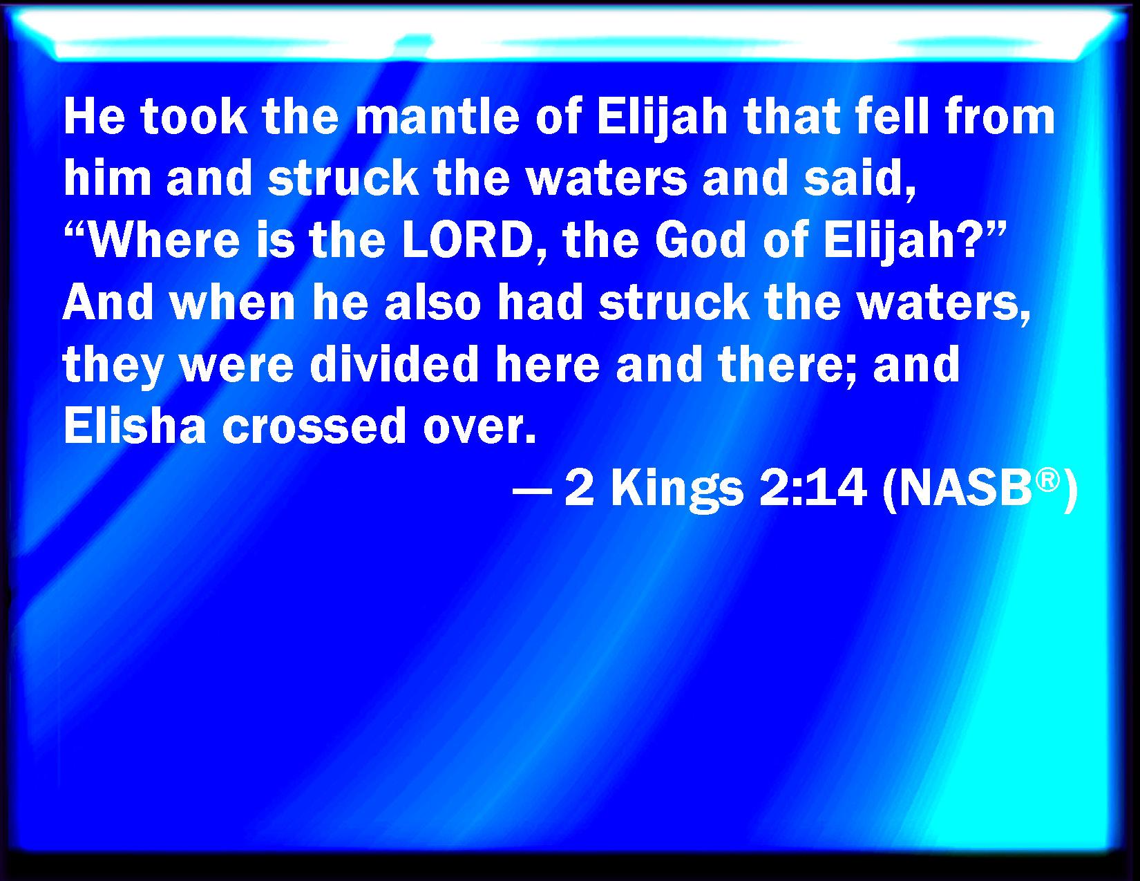 Mantle fell on elisha