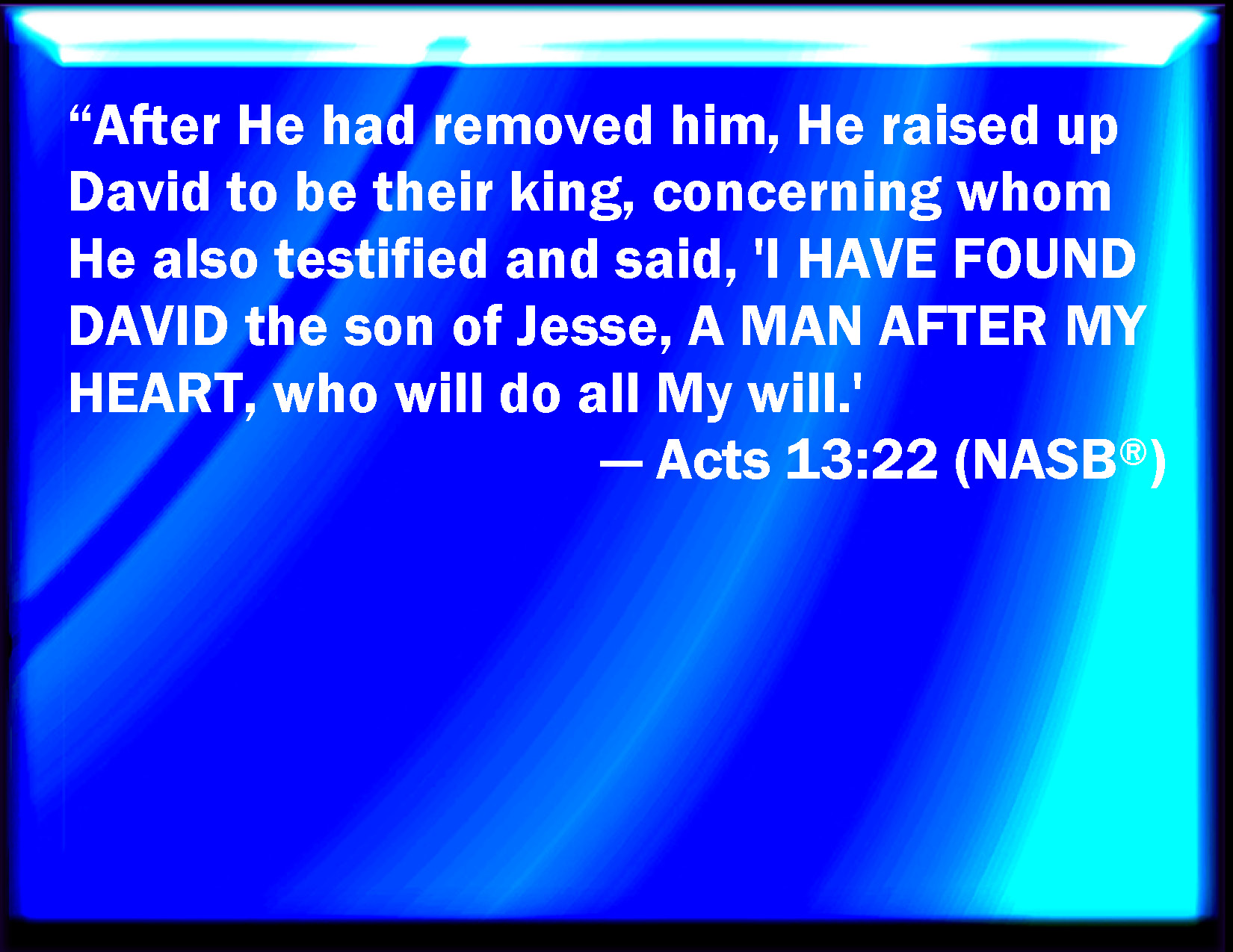 Acts 13 22