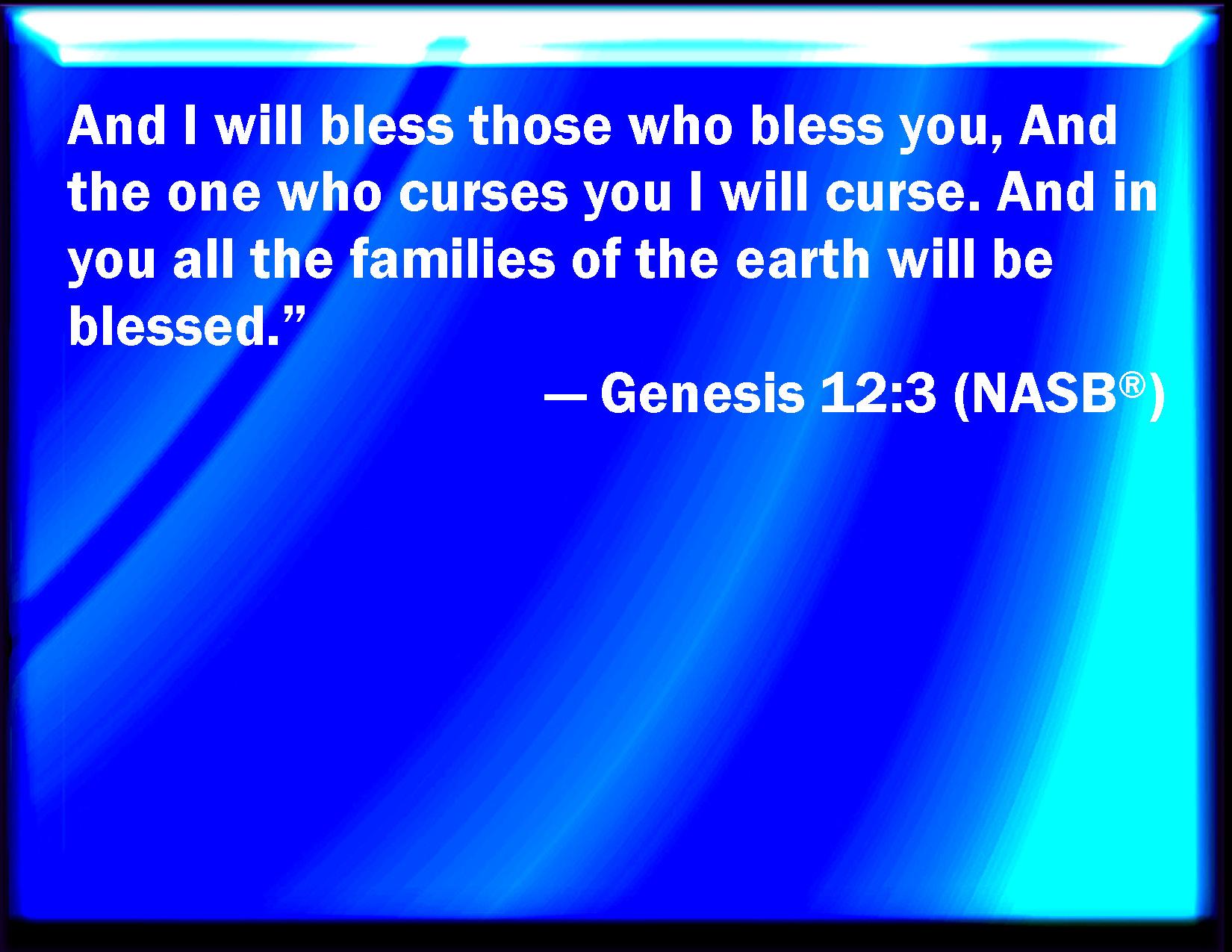 Genesis 12 3