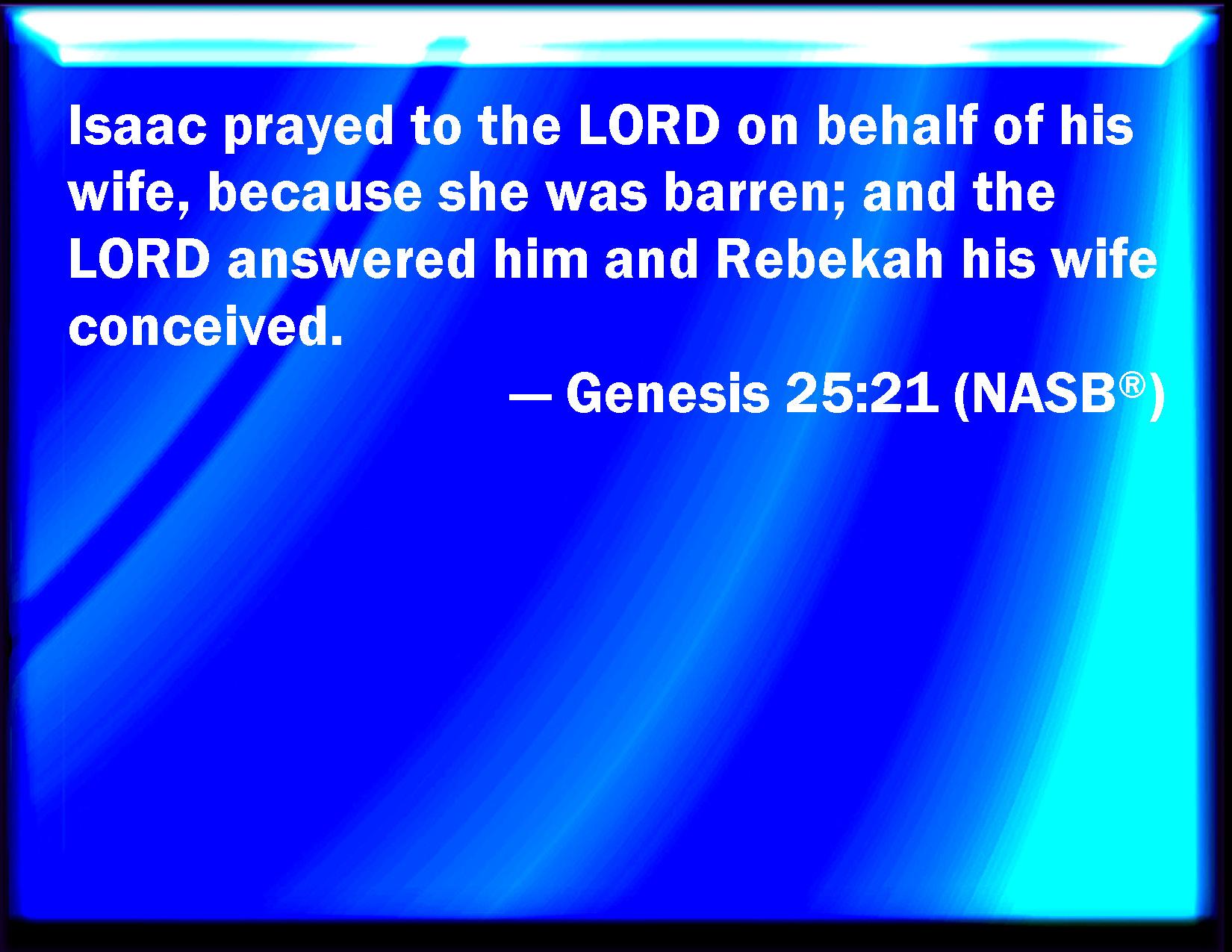 Genesis 25 21