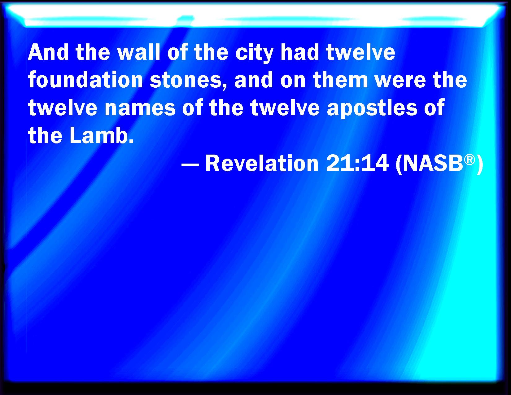 Resultado de imagen de revelation 21:14