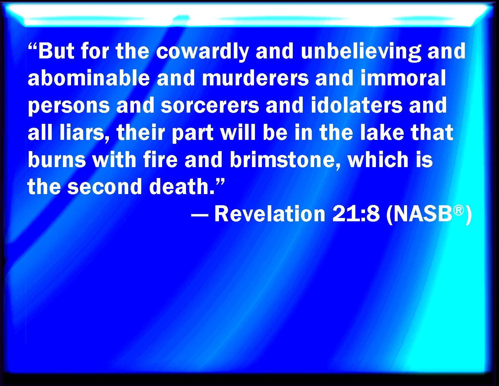 revelation 21 8