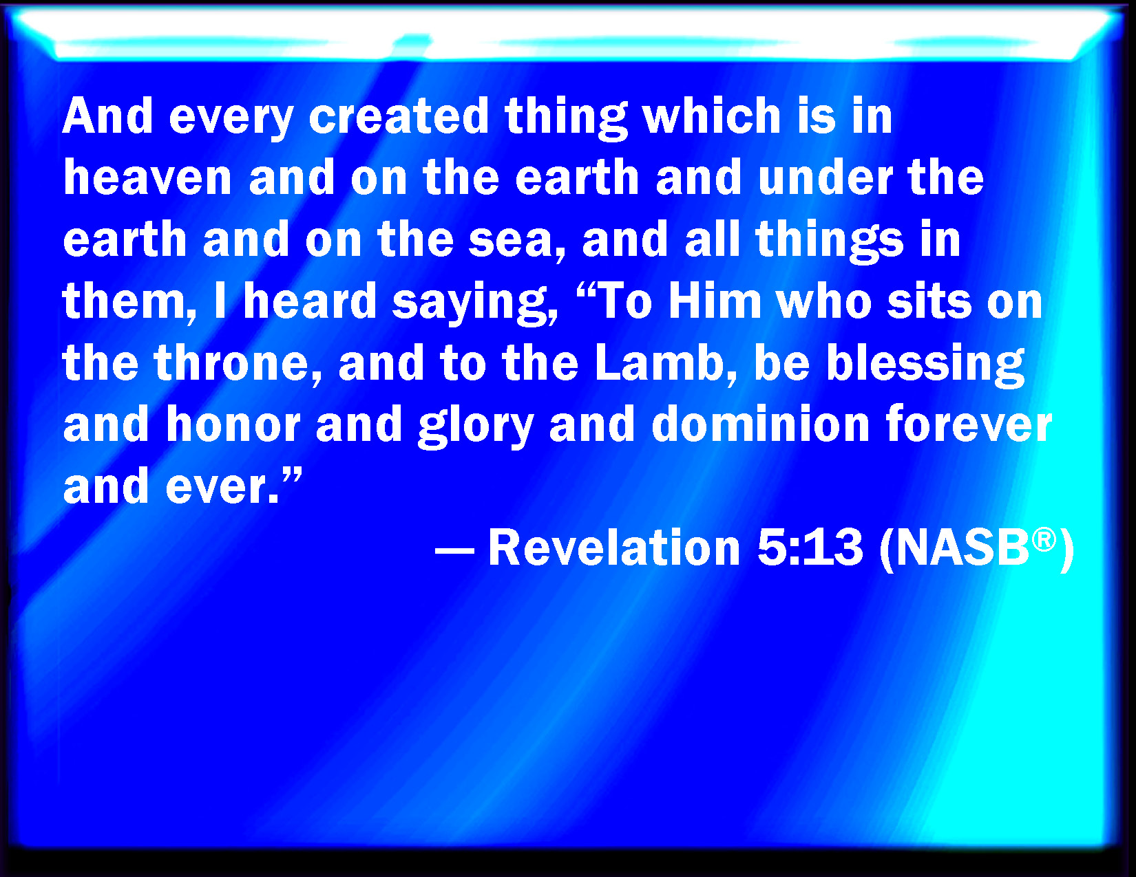 Revelations 13 1 5 Revelation 5 13 Niv Bible
